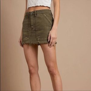 Free People Army Green Cargo Mini Skirt | 23